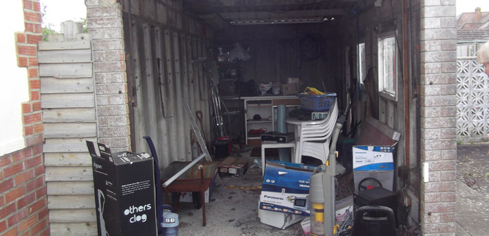 Before a Garage Clearance in Bournemouth